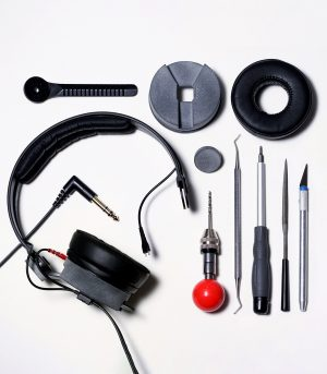 Assembly Sennheiser hd25 Loconoise Quartz custom parts mod